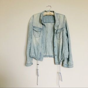 Chico's size 0 lyocell linen blend jacket top